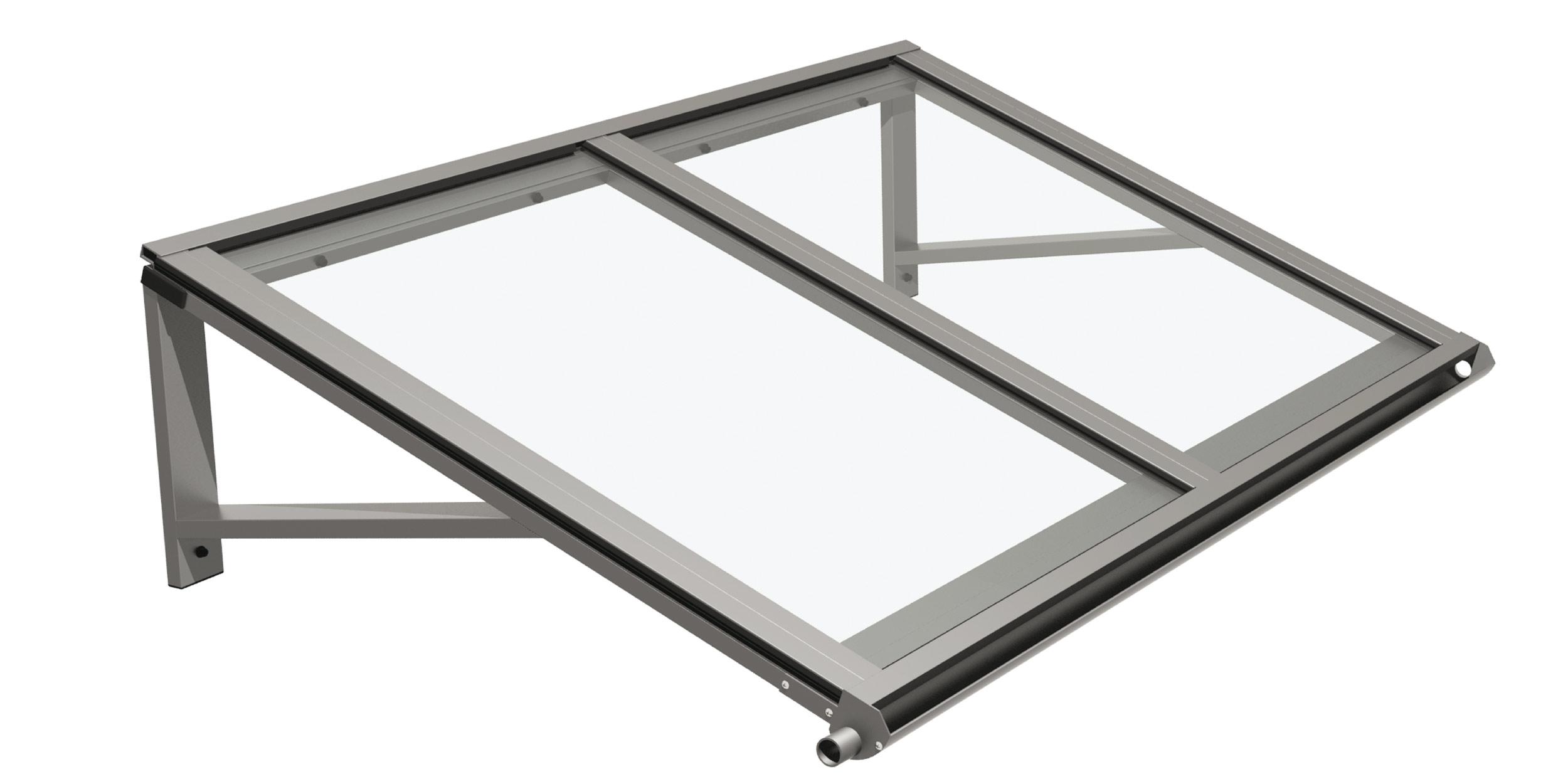 Pensilina in alluminio