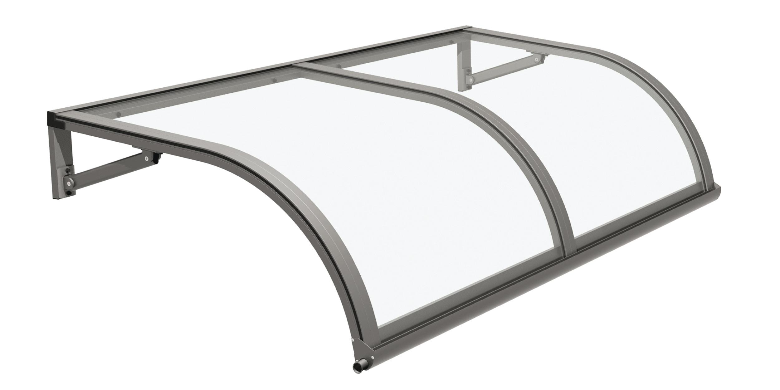 Pensilina arco pensilina in alluminio con policarbonato indicata per infissi e porte d - Tettoia per porta ingresso ...
