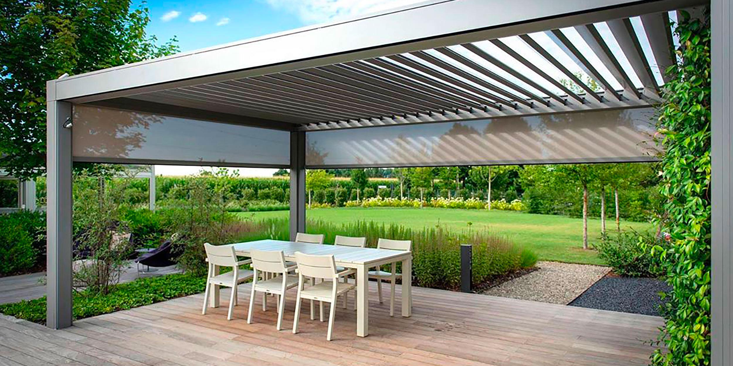Pergola bioclimatica opera autoportante pergola for Tutto x giardino