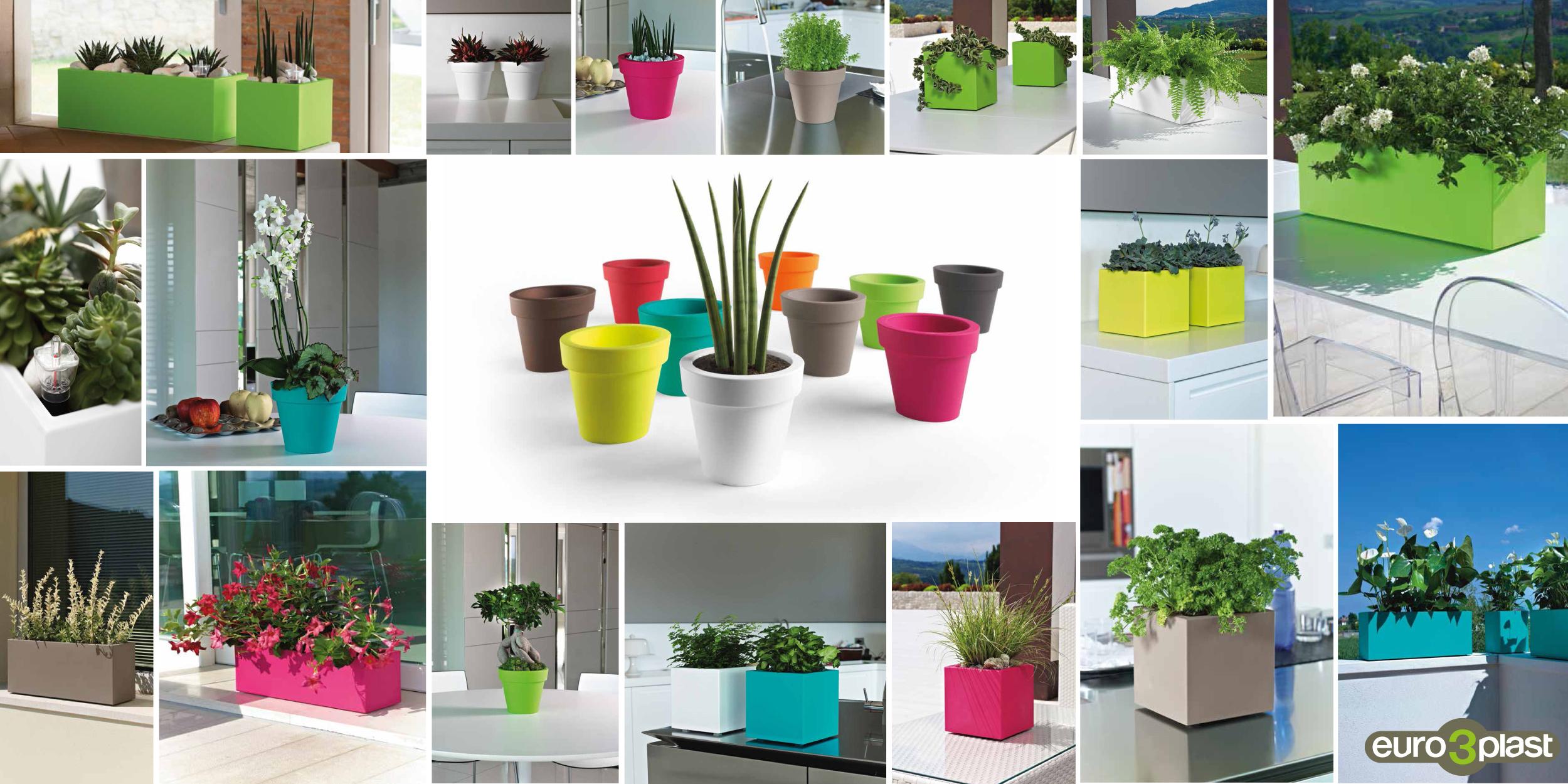 Vasi Da Giardino Colorati khilia collezione mini - piccoli vasi colorati, da disporre