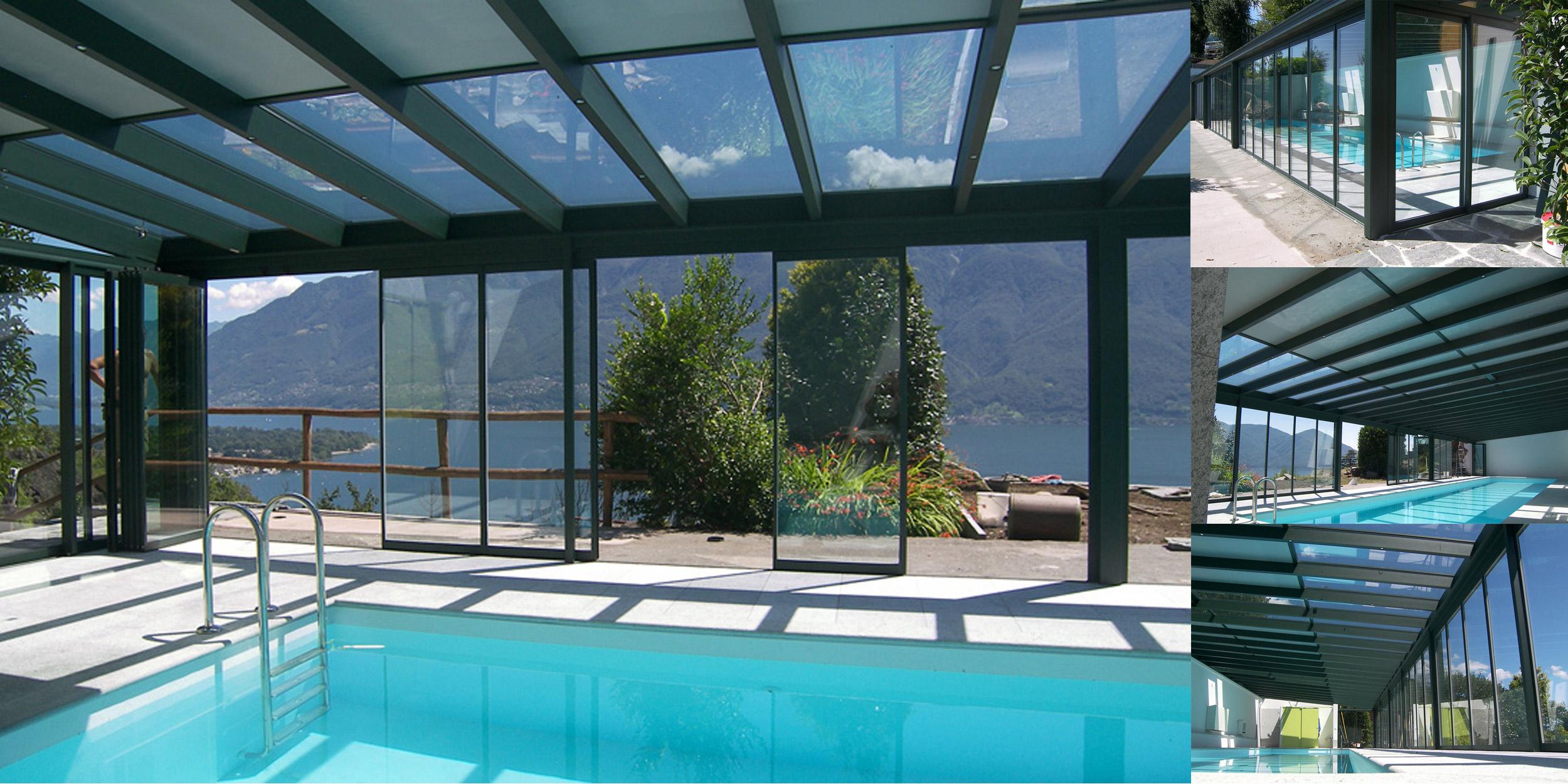 Verande in vetro solide strutture in alluminio con tetto for Case in vetro