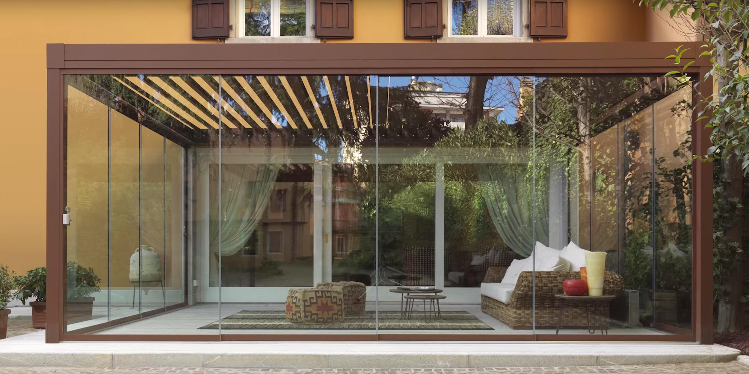 Vetrata Scorrevole Slide Glass Accessori Inox Vetrata Panoramica
