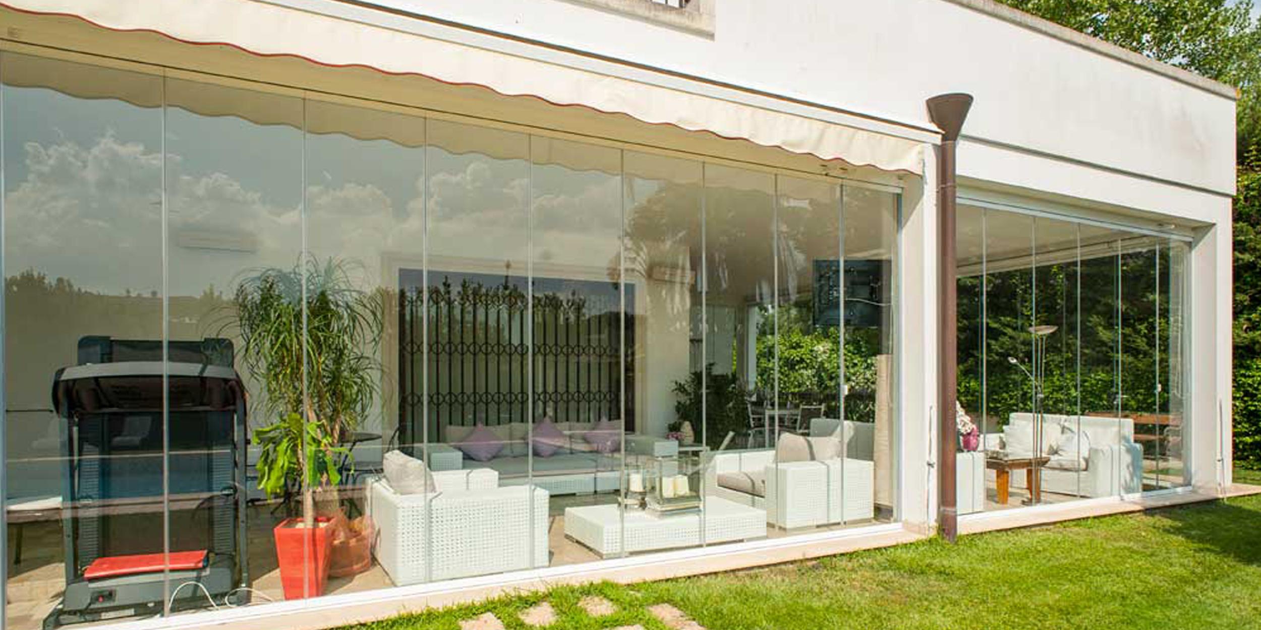 Terrazze Chiuse Con Vetrate vetrata panoramica a pacchetto - vetrata panoramica tutto