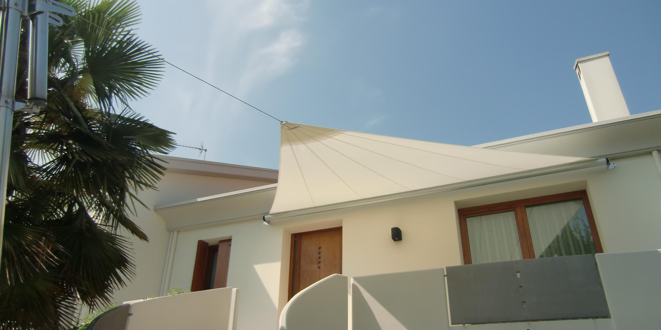 Vela Triangolare Da Giardino sails s5 - vela ombreggiante triangolare con 1 albero