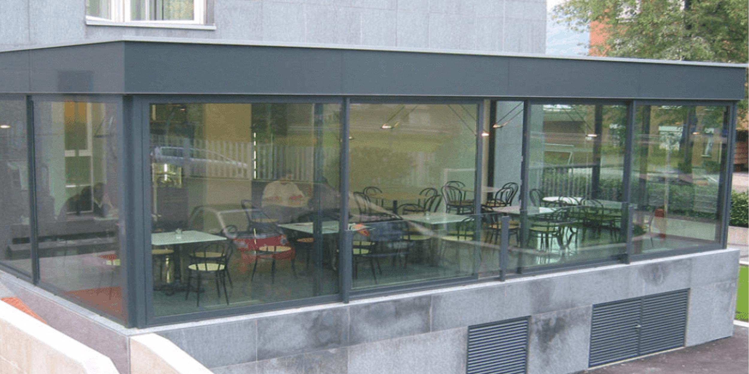 Vetrata scorrevoli per verande, pergolati, dehor, portici, balconi