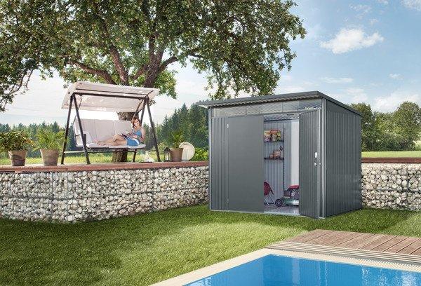 Casetta avantgard ricovero per attrezzi per l 39 architettura moderna - Casette da giardino in alluminio ...
