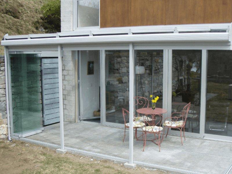 Vendita vetrate panoramiche scorrevoli per verande, dehor, pergole ...