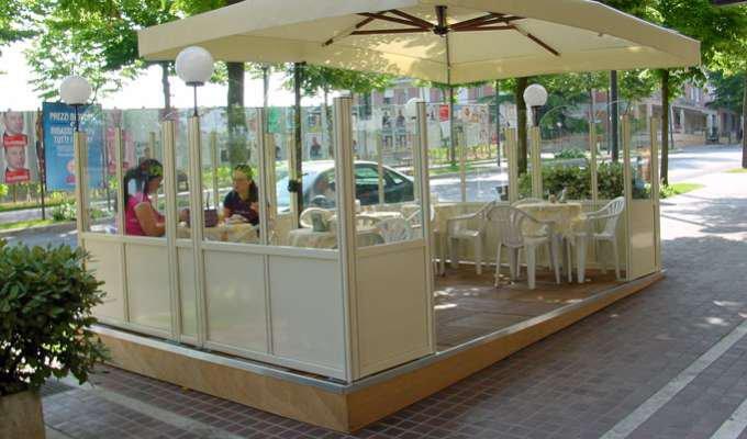Vendita paravento vetro/alluminio per dehor, locali, bar, ristoranti ...