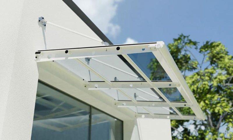 Aurora Pensilina In Alluminio Con Policarbonato Linea Minimal E