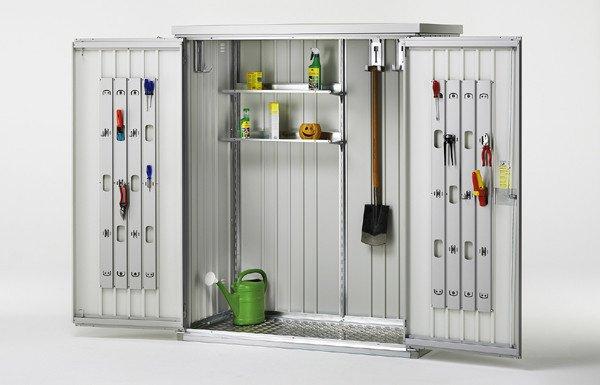 Armadio per attrezzi deposito per attrezzi sicuro e con ingombro minimo - Armadio porta attrezzi da giardino ...
