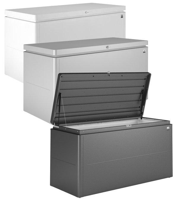 loungebox contenitore da esterno squadrato con design. Black Bedroom Furniture Sets. Home Design Ideas
