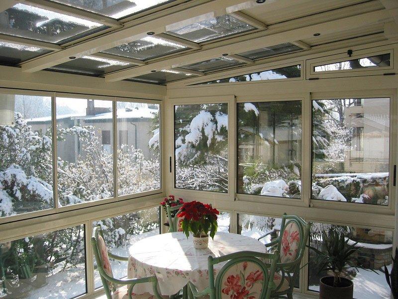 Copertura vetrata mobile sunroof la copertura che si - Verande su terrazzi ...