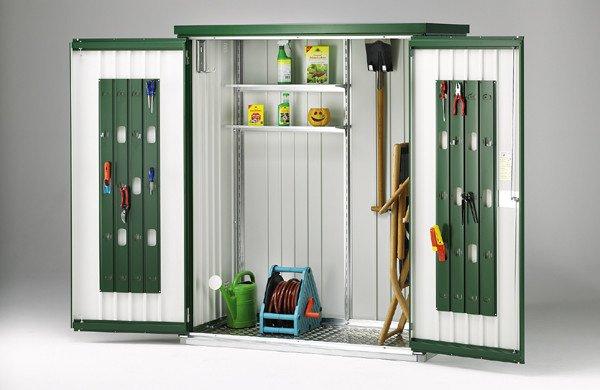Armadio per attrezzi deposito per attrezzi sicuro e con for Armadio da balcone