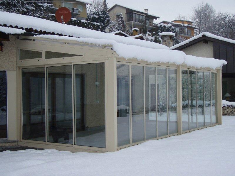 verande in vetro - solide strutture in alluminio con tetto in vetro - Pergola In Alluminio Gazebo In Legno