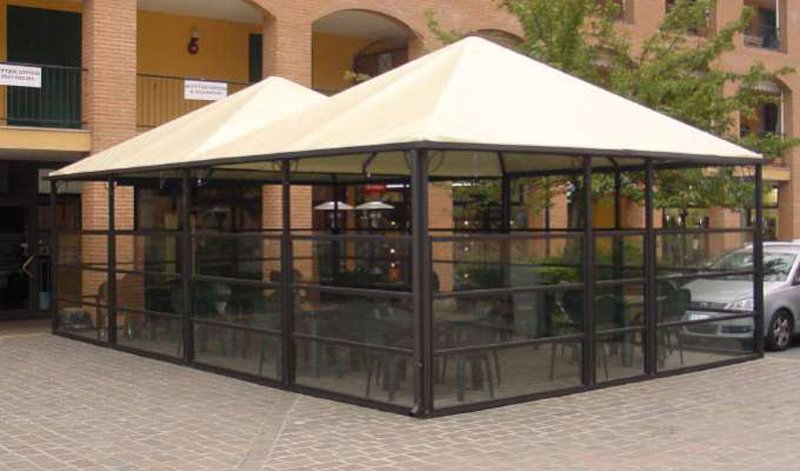 Vendita Paravento Vetro Alluminio Per Dehor Locali Bar Ristoranti